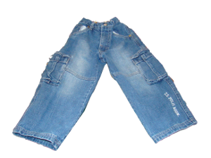 Jeans on rug